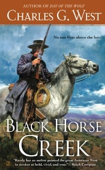 black horse creek charles g west, large print book