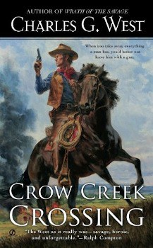 crow creek crossing, ebook, large print book