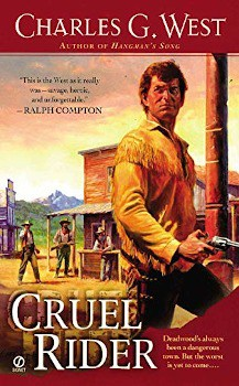 cruel rider charles g west, ebook, large print book