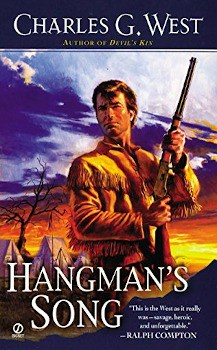 hangman's song charles g west, ebook, large print book